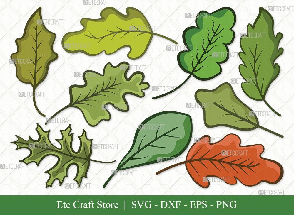 Oak Leaves Clipart SVG Cut File | Oak Leafs Svg