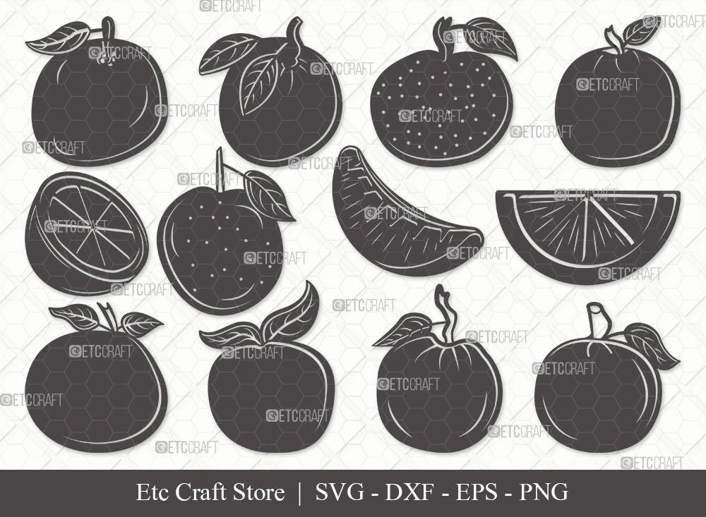 Orange Silhouette SVG Cut File | Half Orange Svg