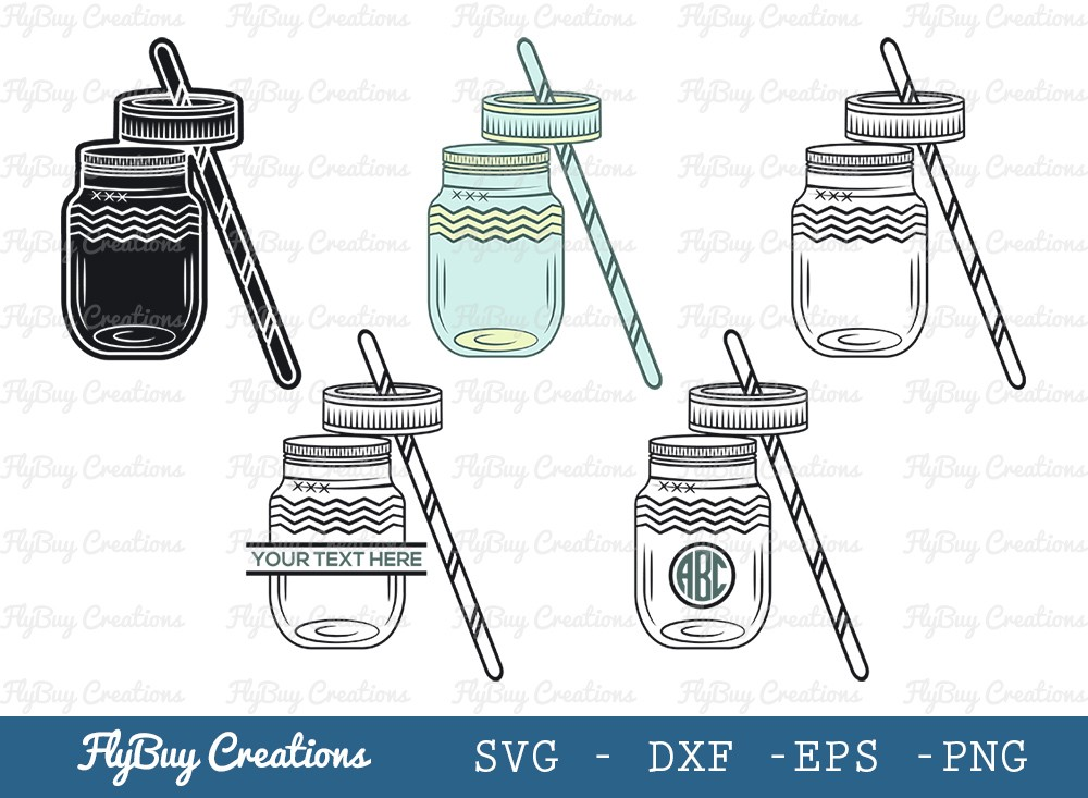 Personalized Glass Mason Jar SVG Cut File