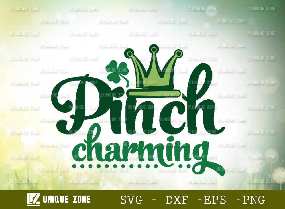 Pinch Charming SVG Cut File | Shamrock Svg