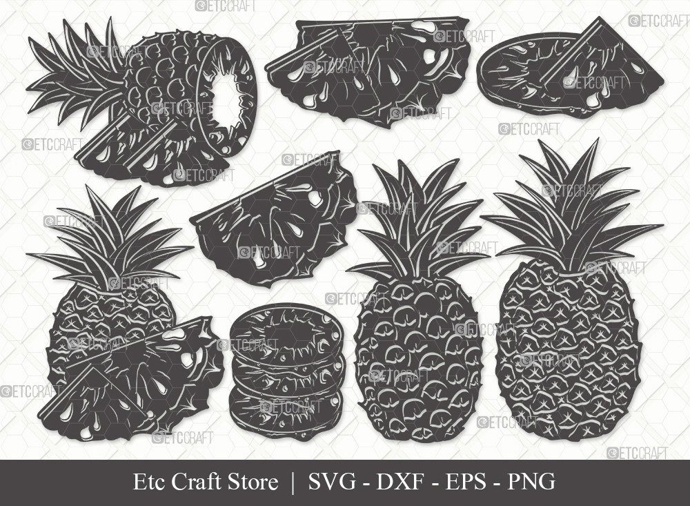 Pineapple Silhouette SVG Cut File | Summer Svg