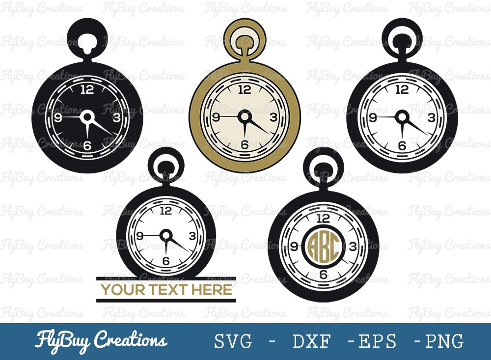 Pocket Watch SVG Cut File | Stop Watch Svg