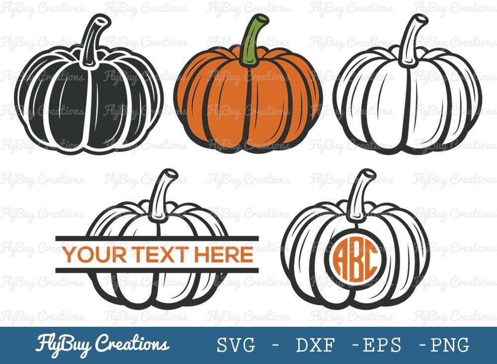 Pumpkin SVG Cut File | Pumpkin Monogram