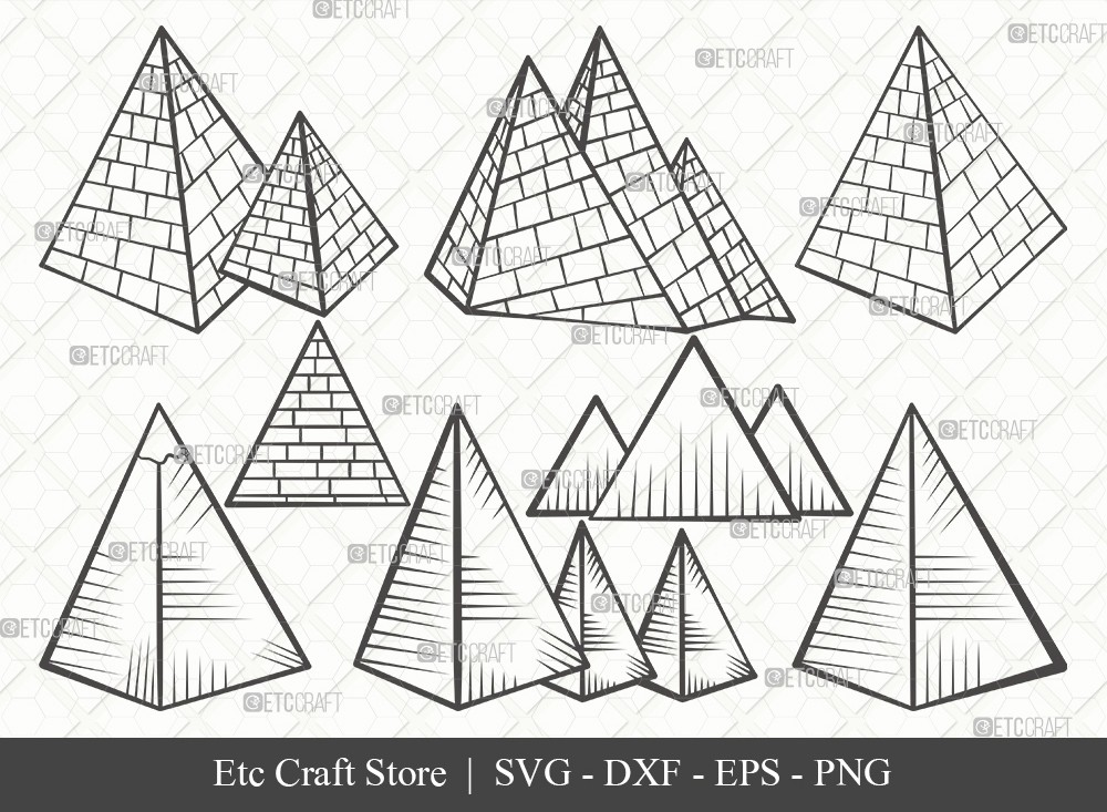 Pyramid Outline SVG Cut File | Egypt Svg