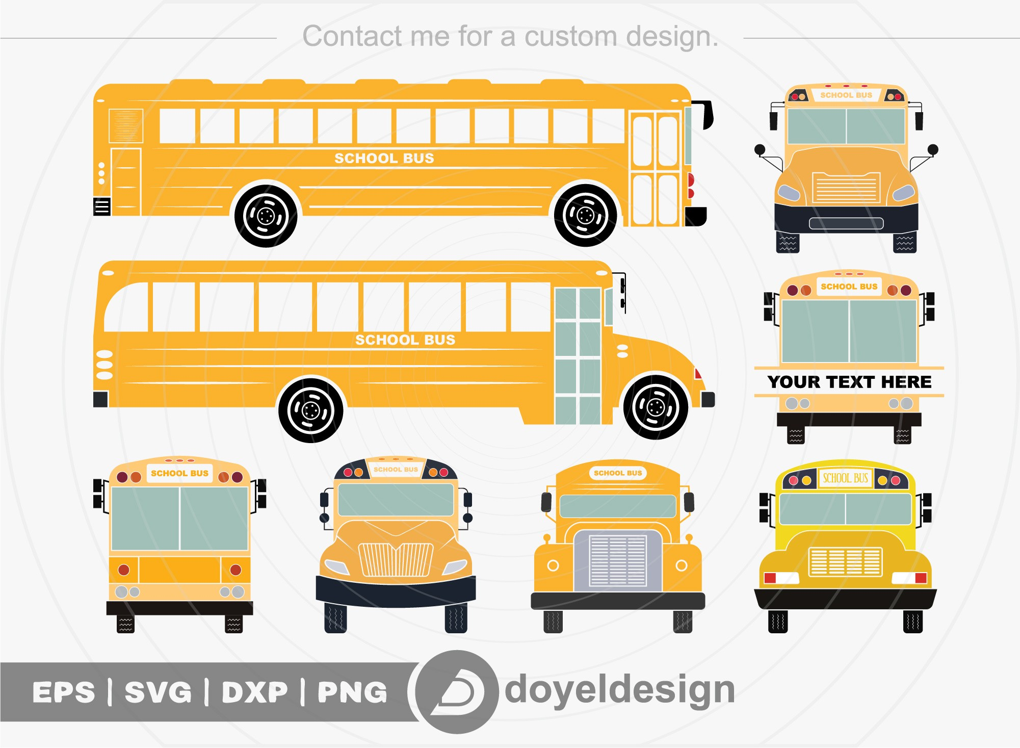 School Bus SVG Cut File School Bus Clip Art