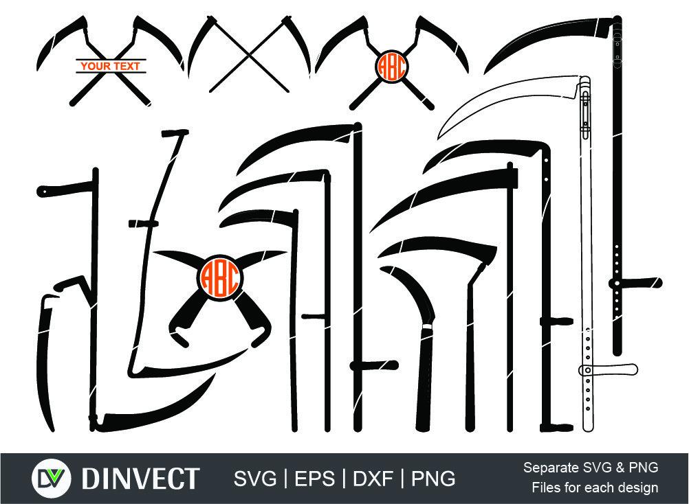 Scythe svg, Scythe Design, Scythe Clipart