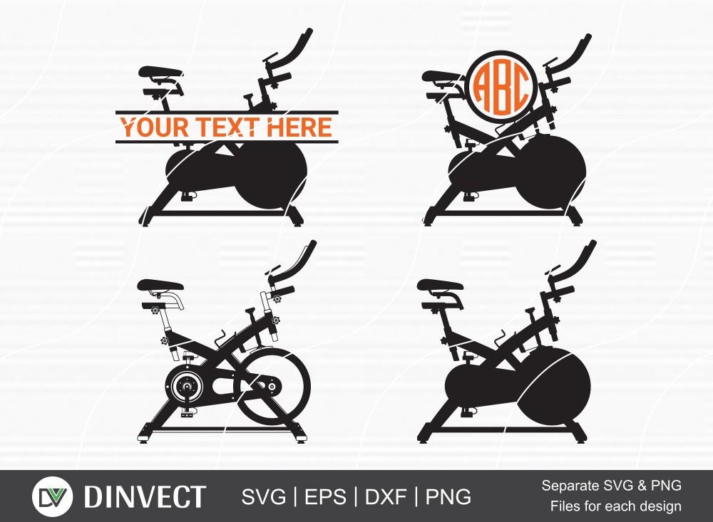 Free Spin Bike SVG, Free Spin Bike Silhouette, Free Spin Bike Monogram