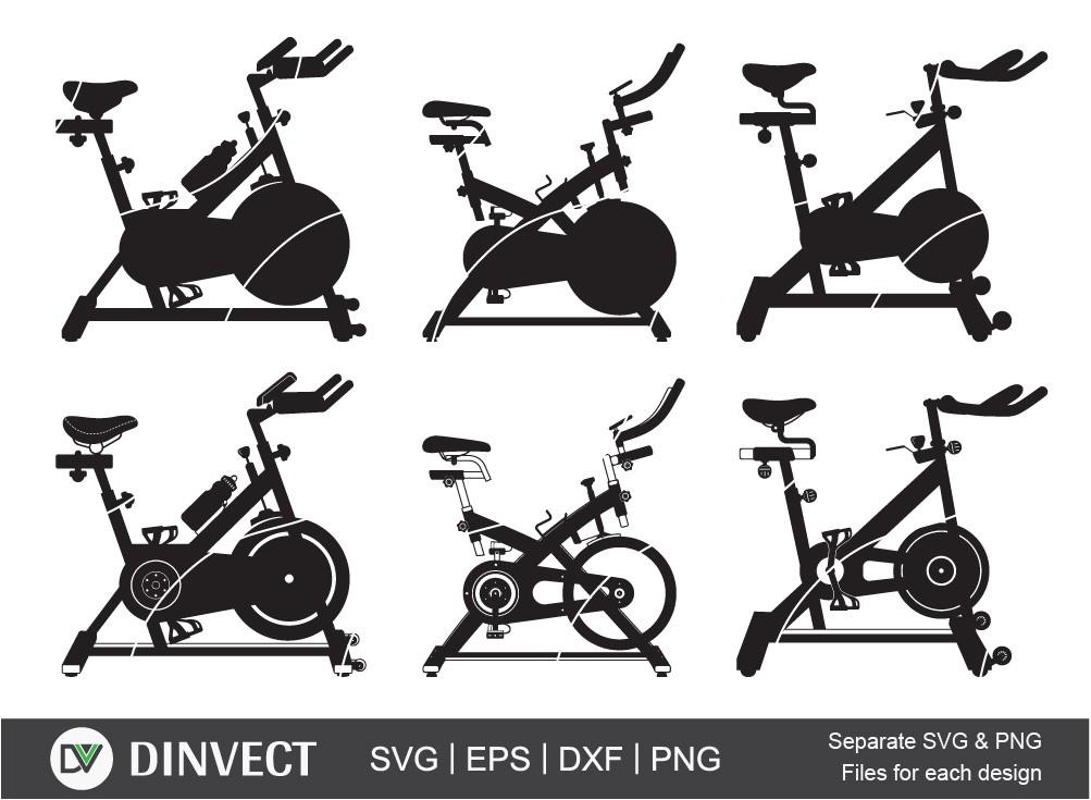 Spin Bike SVG, Bodybuilding Spin Spinning Bike
