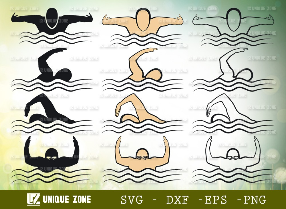 Swimmer SVG Cut File | Swim Svg | Sports Svg