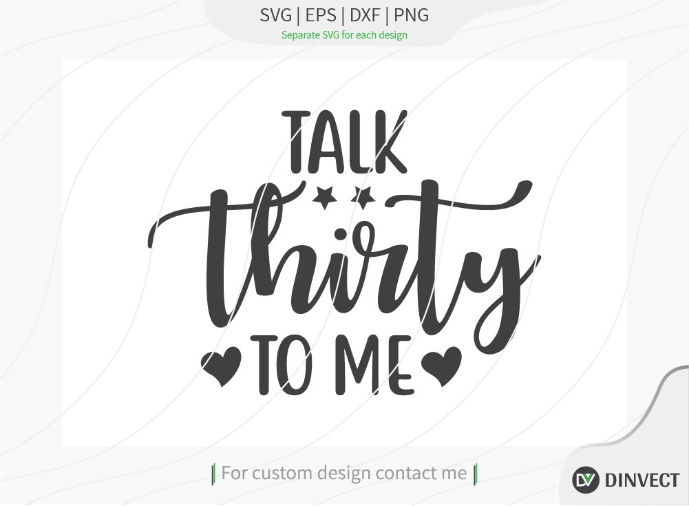 Talk thirty to me SVG cut file, Disc Golfer SVG