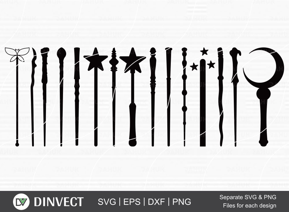 Wands svg, Wizard Witches Spells, Cut file