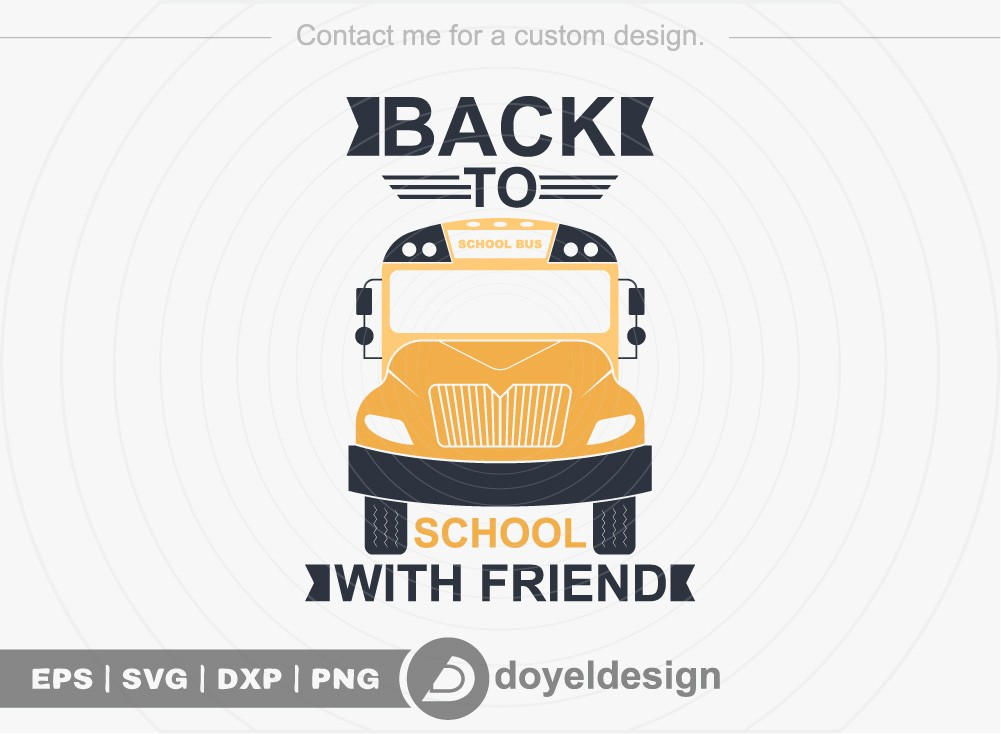 Back to school with friend SVG Cut File