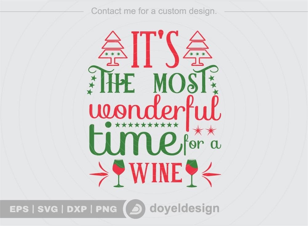 Its the most wonderful time for a wine SVG