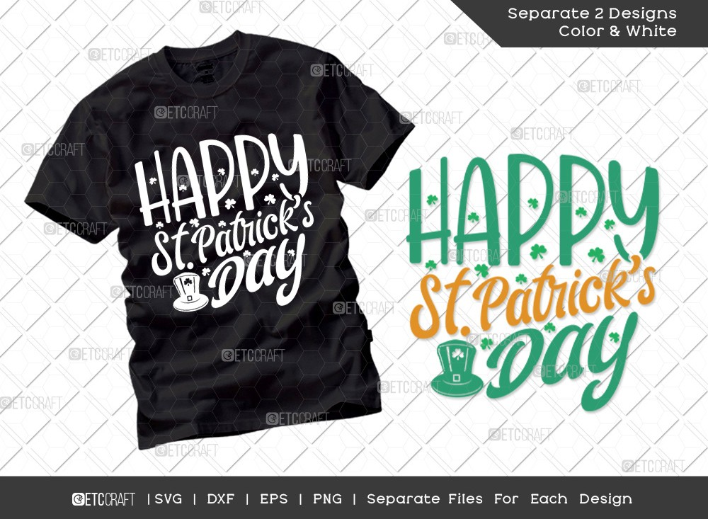 Happy St Patricks Day SVG Cut File | Irish T-shirt Design