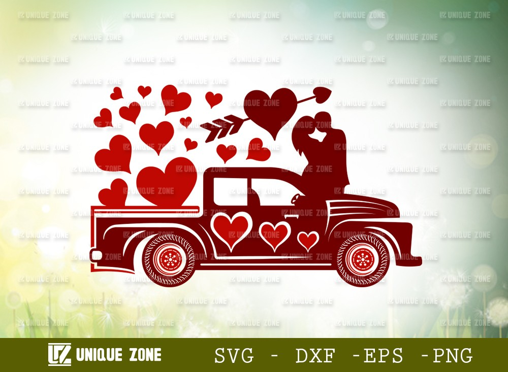 Love With Truck SVG Cut File | Love Svg