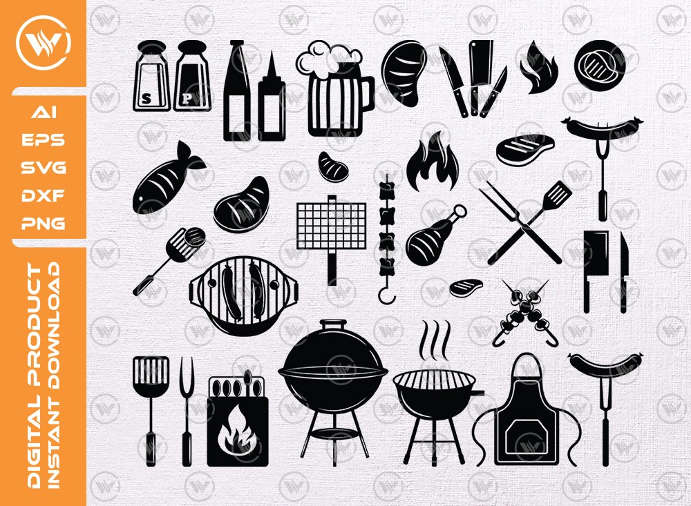 Barbecue SVG | Barbecue Silhouette | BBQ SVG