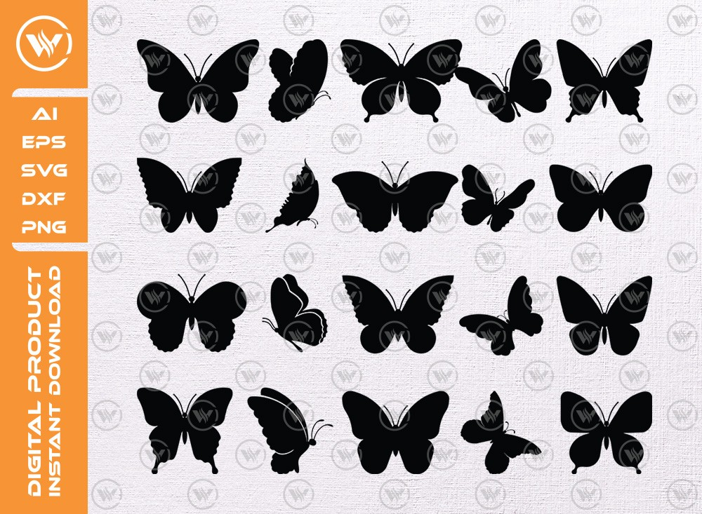 Butterfly SVG | Butterfly Silhouette | Butterfly Icon