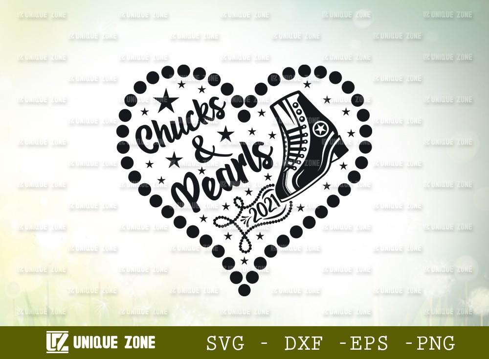 Chucks And Pearls SVG Cut File | Pearls Svg