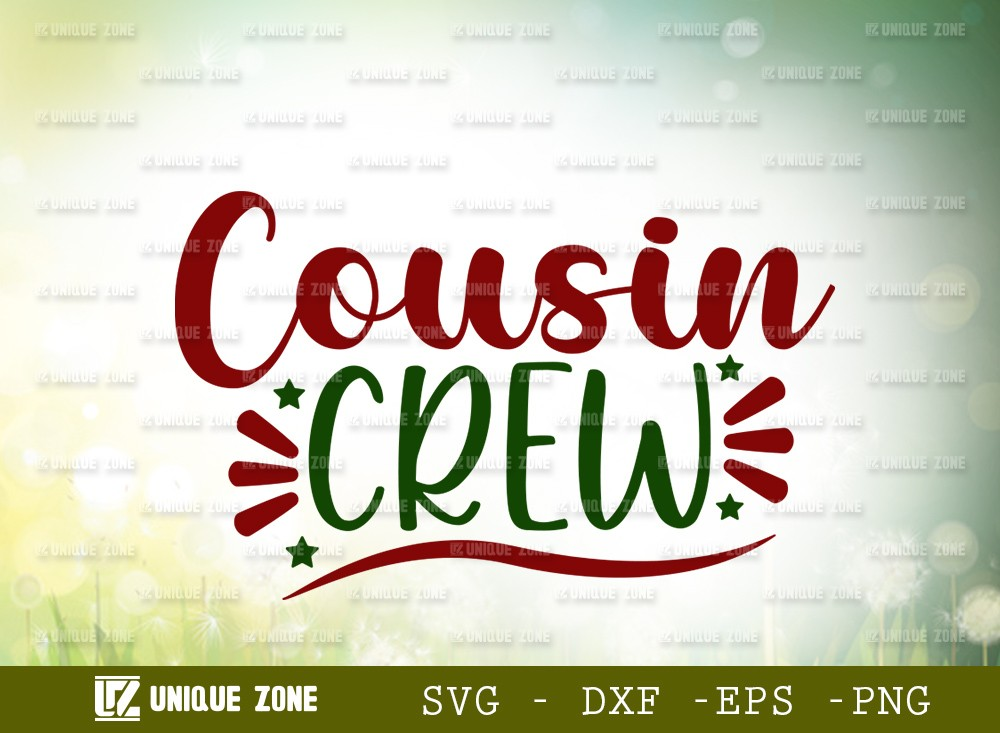 Cousin Crew SVG Cut File | Family Christmas Svg