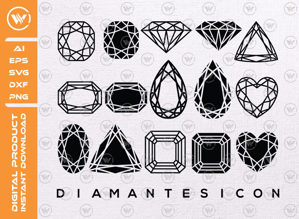 Diamantes SVG | Diamantes Silhouette | Diamante Cut File