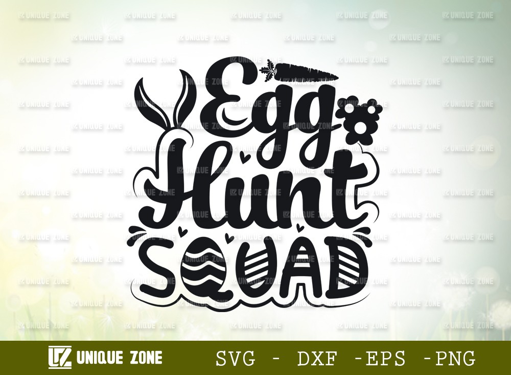 Egg Hunt Squad SVG Cut File | Happy Easter Svg