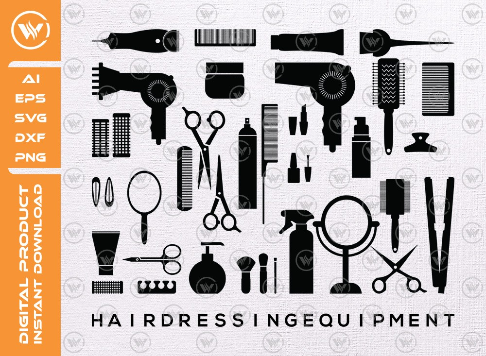 Hairdressing Equipment SVG | Salon Equipment