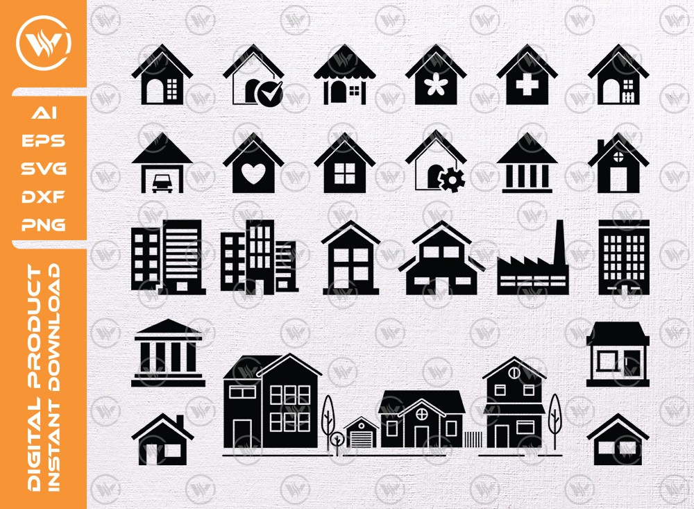 House SVG   House Silhouette   House Icon SVG