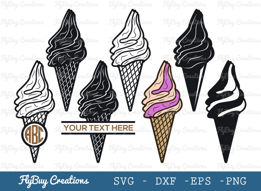 Ice Cream Cone SVG Cut File | Shamrock Svg