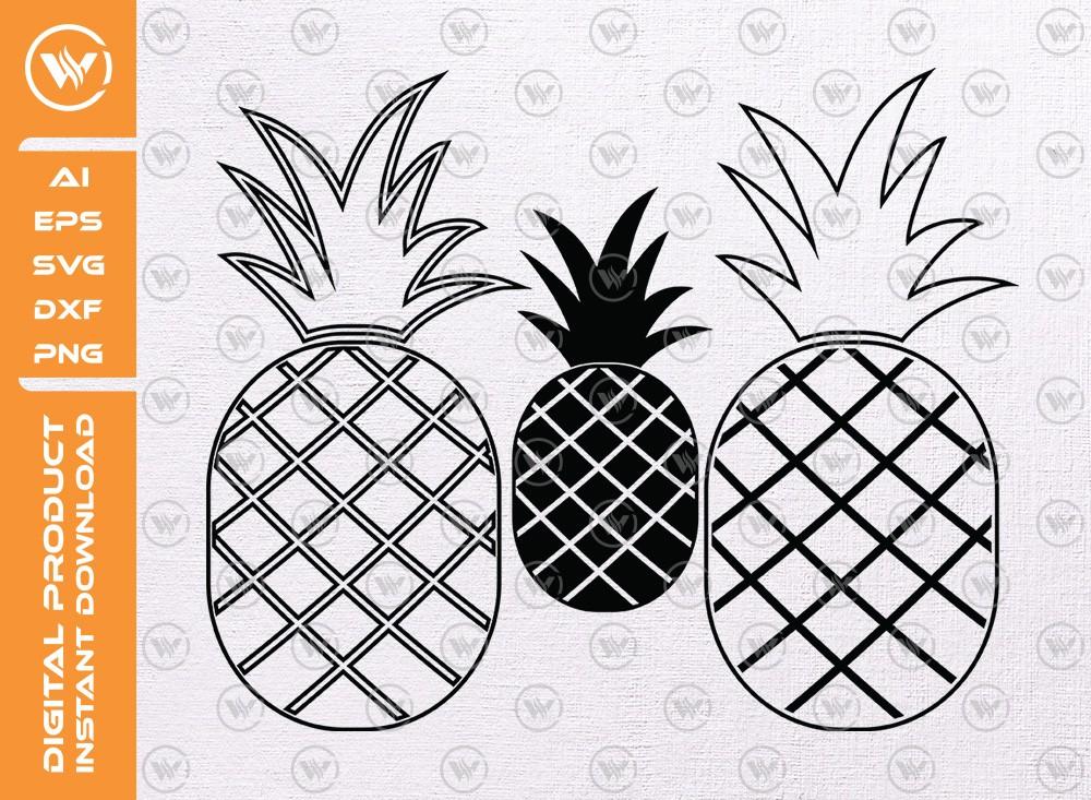 Pineapple SVG | Pineapple Silhouette | Pineapple Icon