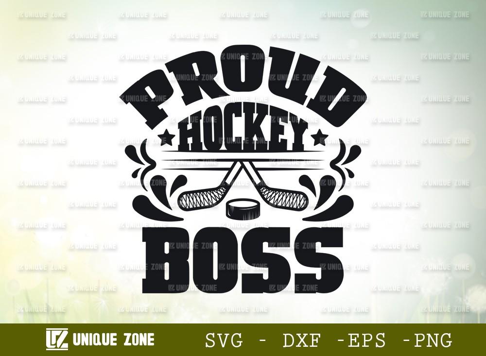 Proud Hockey Boss SVG | Best Boss Ever Svg