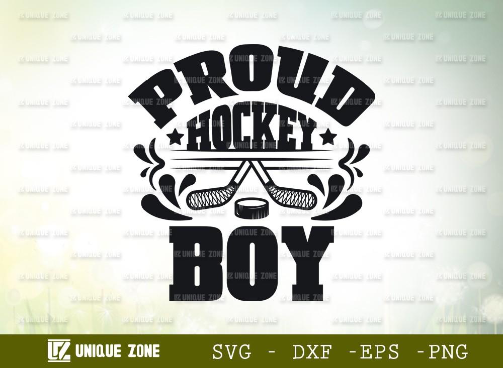 Proud Hockey Boy SVG Cut File | Best Boy Ever Svg