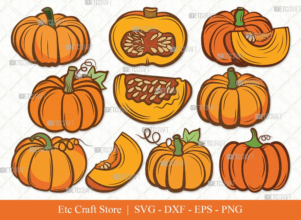 Pumpkin Clipart SVG | Pumpkins Svg | Autumn