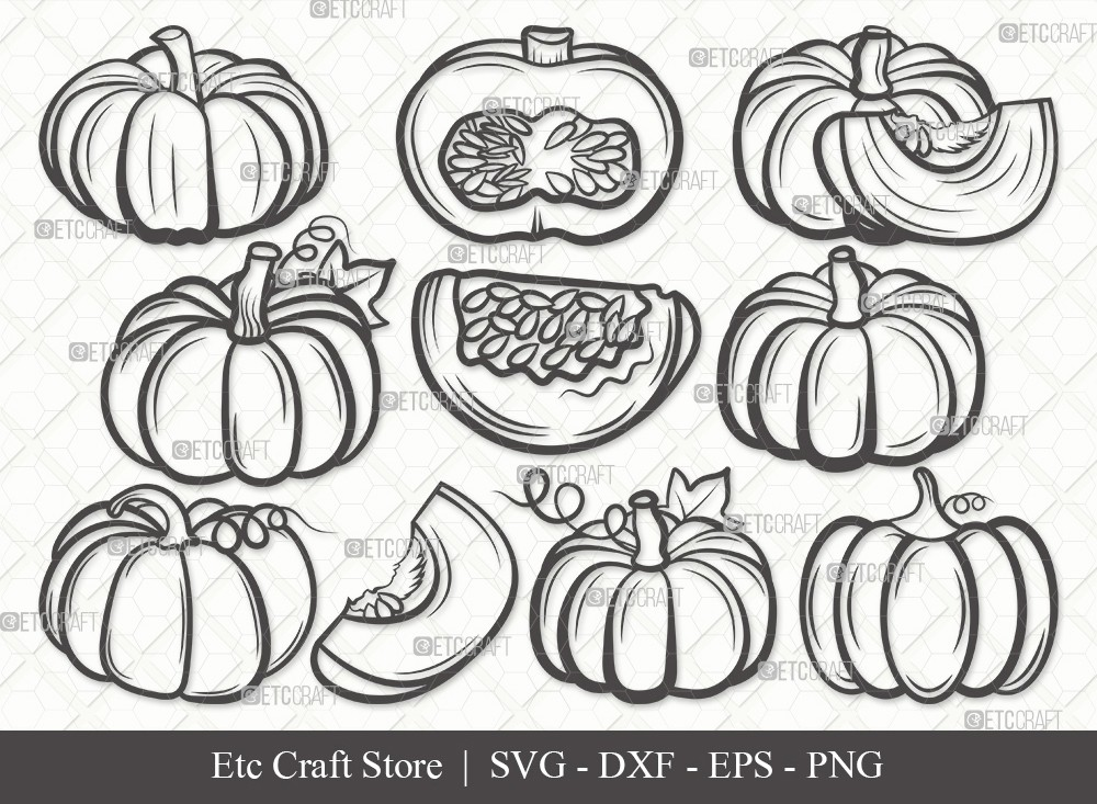 Pumpkin Outline SVG | Pumpkins Svg | Fall Svg