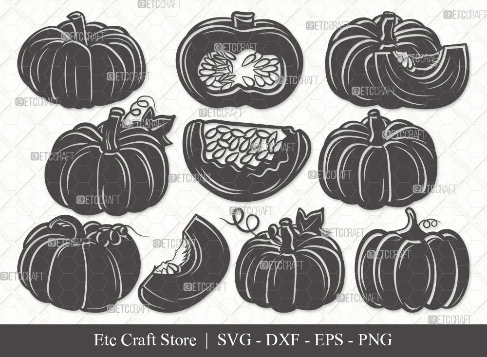 Pumpkin Silhouette SVG | Pumpkins Svg | Fall Svg