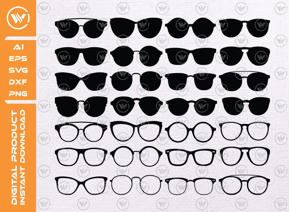 Sunglasses SVG | Sunglasses Silhouette | SVG Cut File