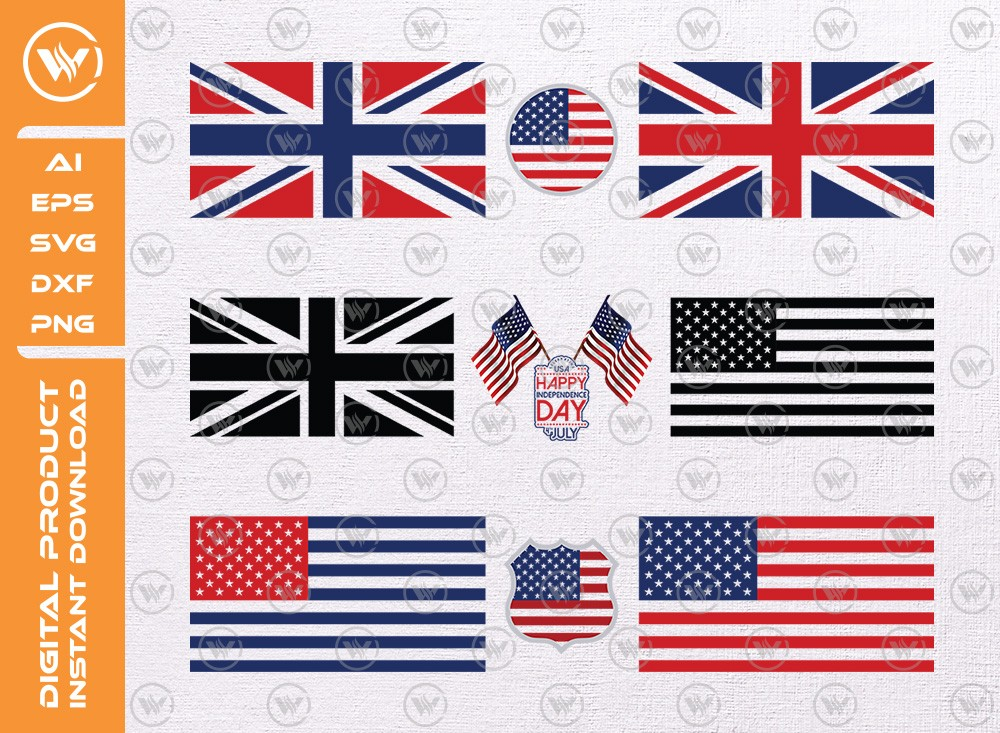 US flag SVG | US flag levels SVG | US flag icon SVG Cut File