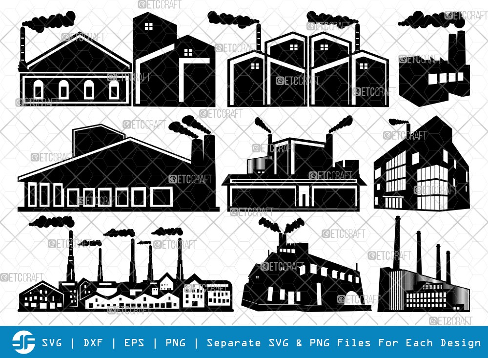 Factory SVG Cut Files | Factory Silhouette