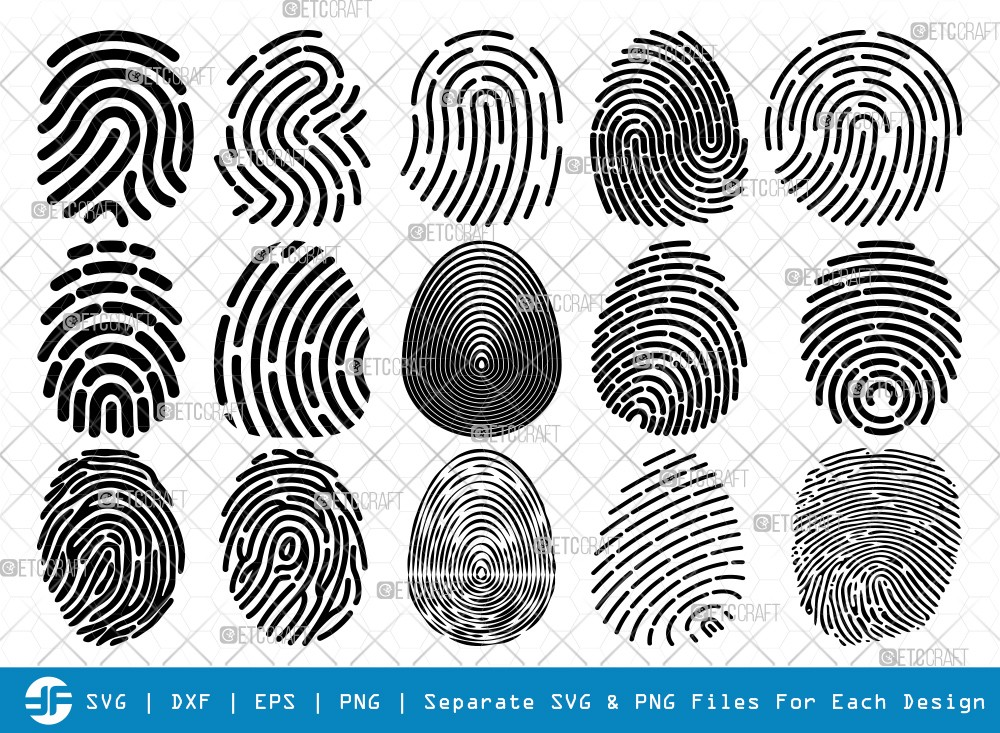 Fingerprint SVG Cut Files | Fingerprint Silhouette