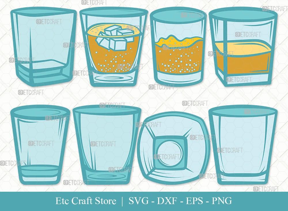 Shot Glass Clipart SVG | Alcohol Glass Svg