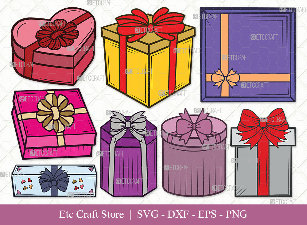 Gift Box Clipart SVG Cut File | Christmas Gift Svg