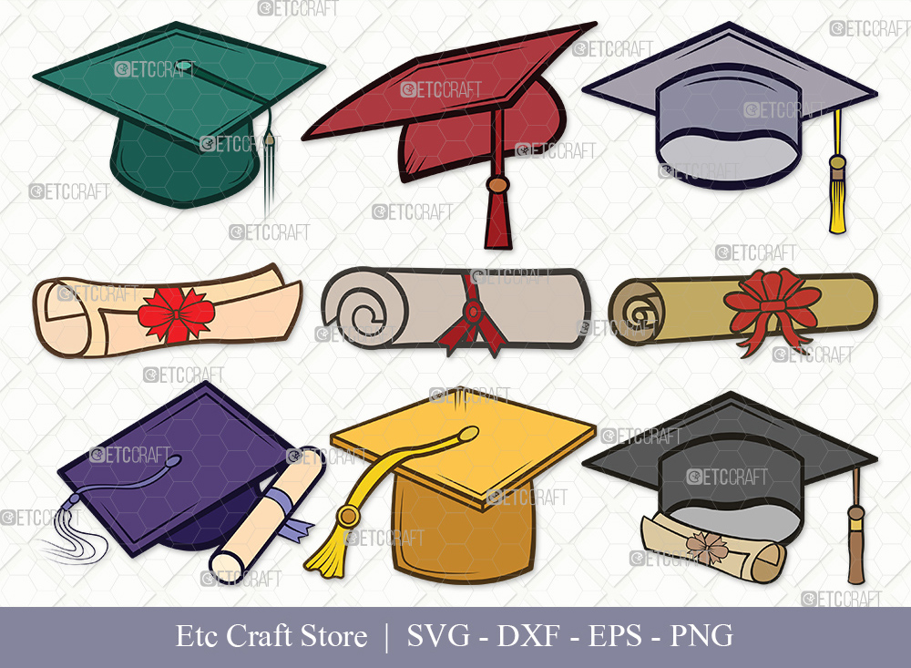 Graduation Cap Clipart SVG Cut File | Graduation Svg