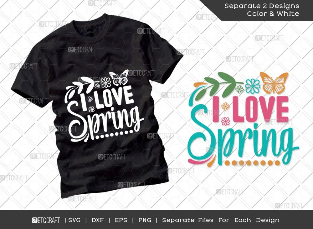 I Love Spring SVG Cut File | Hello Spring Svg