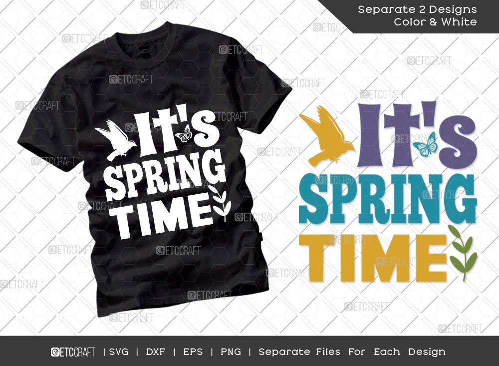 Its Spring Time SVG Cut File   Hello Spring Svg