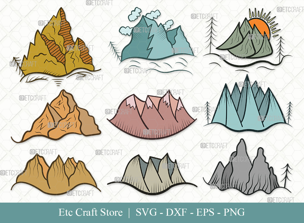 Mountain Clipart SVG Cut File | Nature Svg