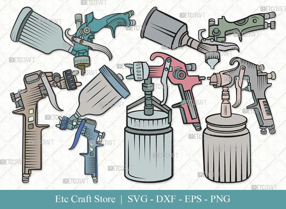 Spray Gun Clipart SVG | Paint Spray Gun Svg