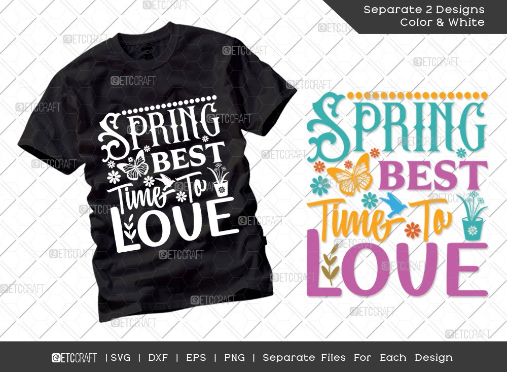Spring Best Time To Love SVG | Hello Spring Svg