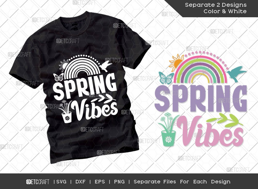 Spring Vibes SVG Cut File | Hello Spring Svg