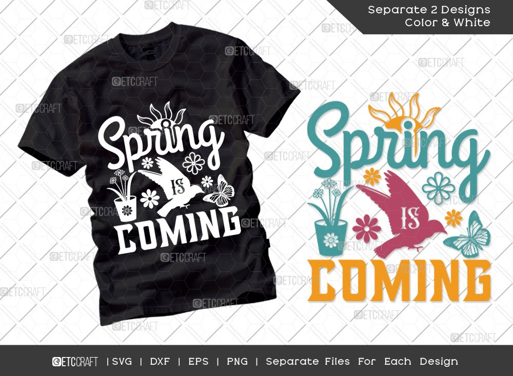 Spring Is Coming Svg Cut File | Hello Spring Svg
