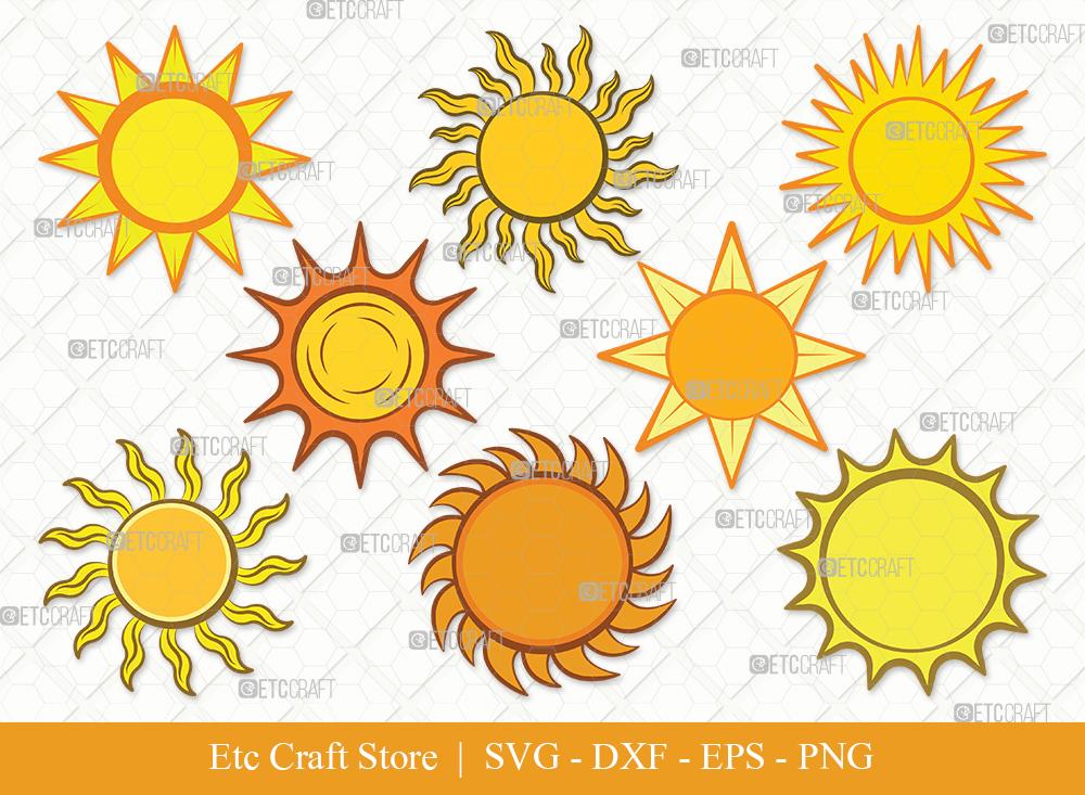 Sun Clipart SVG Cut File   Sunshine Svg