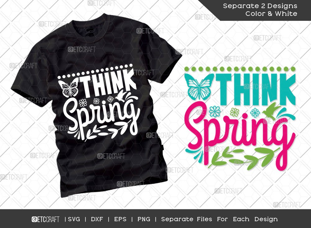 Think Spring SVG Cut File | Hello Spring Svg